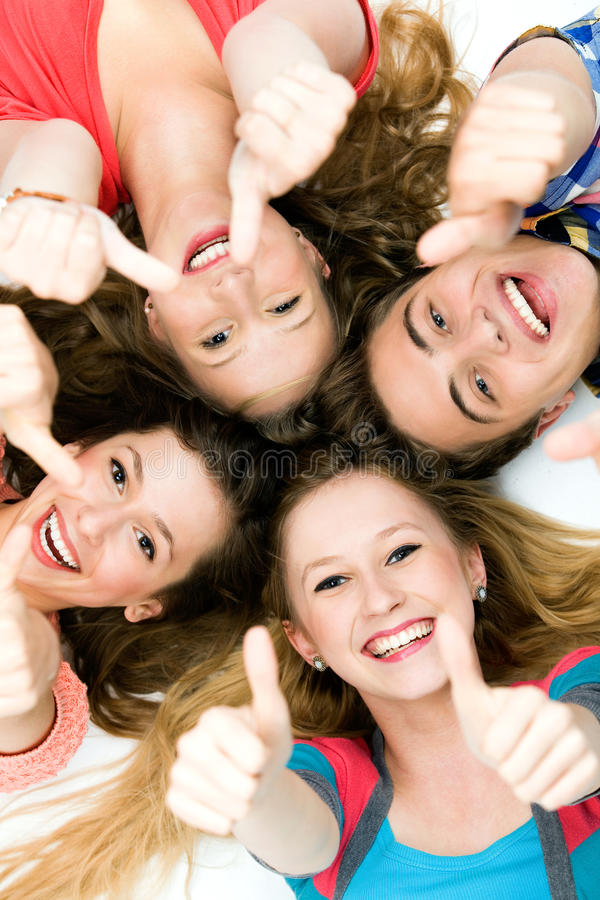 Download Friends with thumbs up stock photo. Image of friends - 21381028