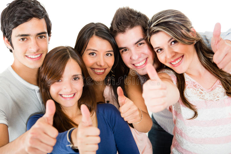 Download Friends with thumbs up stock image. Image of joyful, friends - 25241581