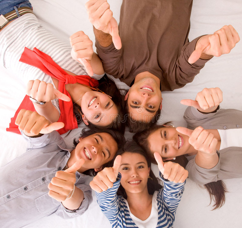 Download Friends - Thumbs up stock image. Image of american, persons - 7944319