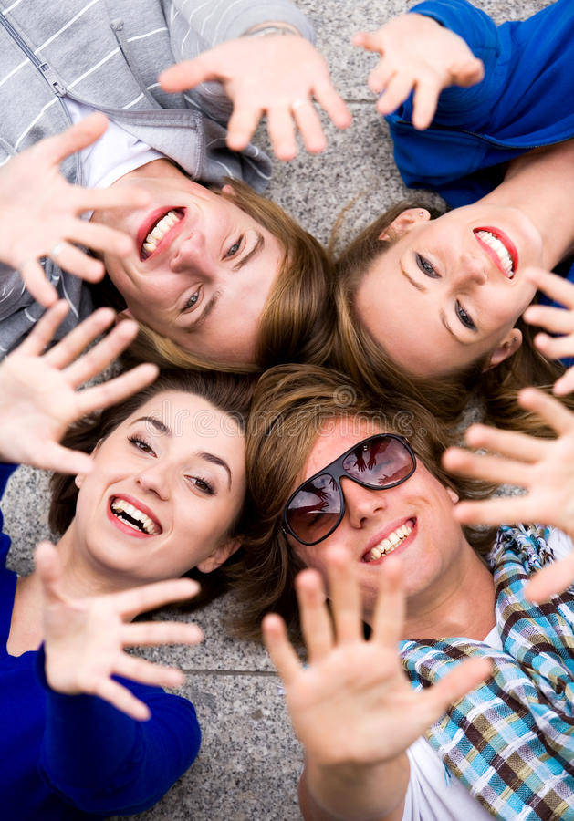 Download Friends waving hands stock photo. Image of casual, face - 11102490