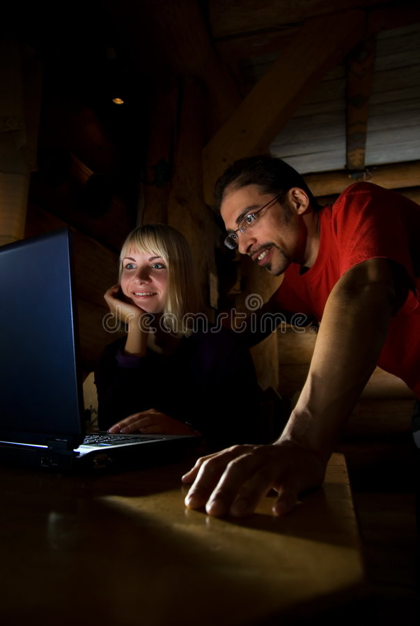 Download Friends Working On A Laptop Stock Photo - Image: 3441882