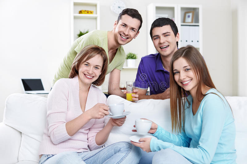 Download Friendship stock image. Image of coffee, sitting, people - 18555305