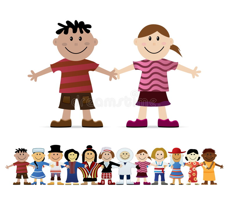 Download Friendship stock vector. Image of human, boys, asian, ethnicity - 9276808