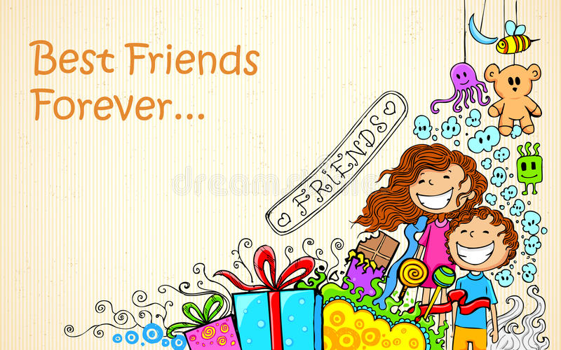 Friendship Day. Illustration of Friendship Day doodle in sketchy look vector illustration