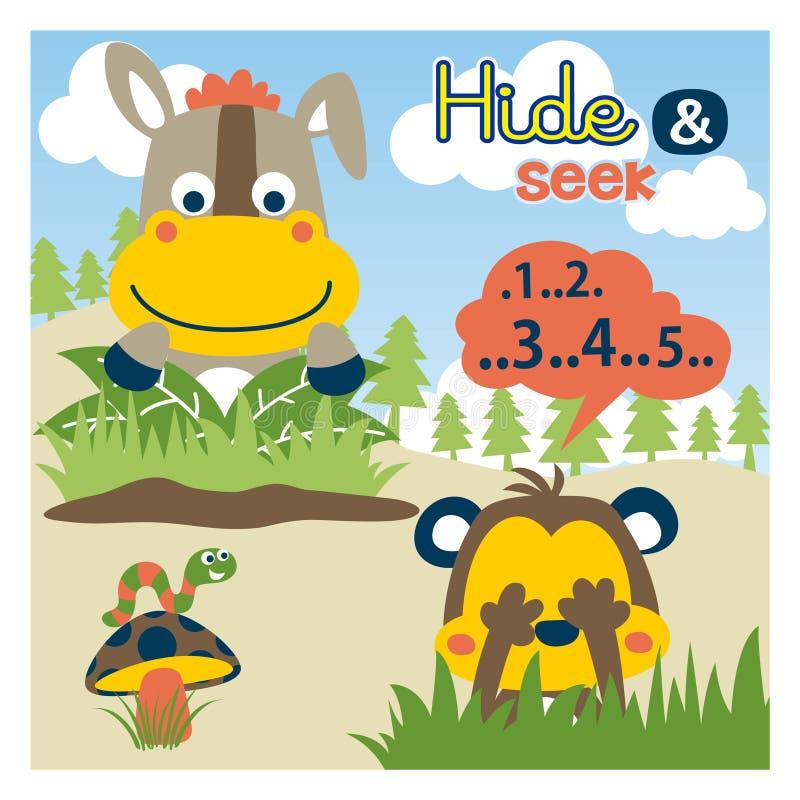 Hide Seek Kids: Children Playing Hide And Seek Vector Stock Vector