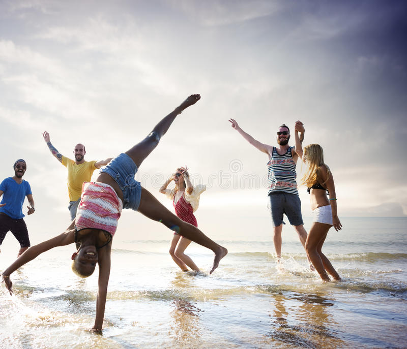 Friendship Freedom Beach Summer Holiday Concept royalty free stock image