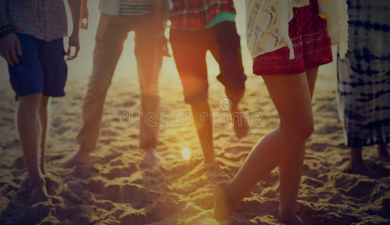 Friendship Freedom Beach Summer Holiday Concept.  stock photos