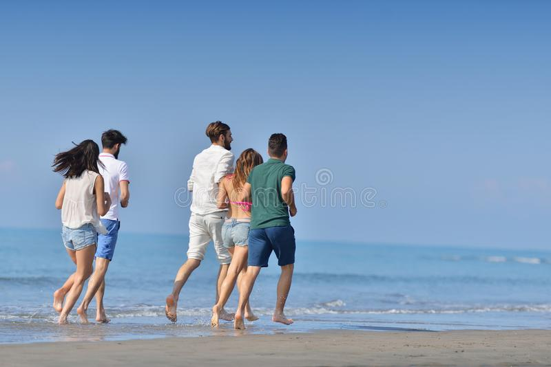 Friendship Freedom Beach Summer Holiday Concept stock photos