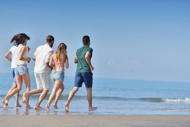 Friendship Freedom Beach Summer Holiday Concept stock photography