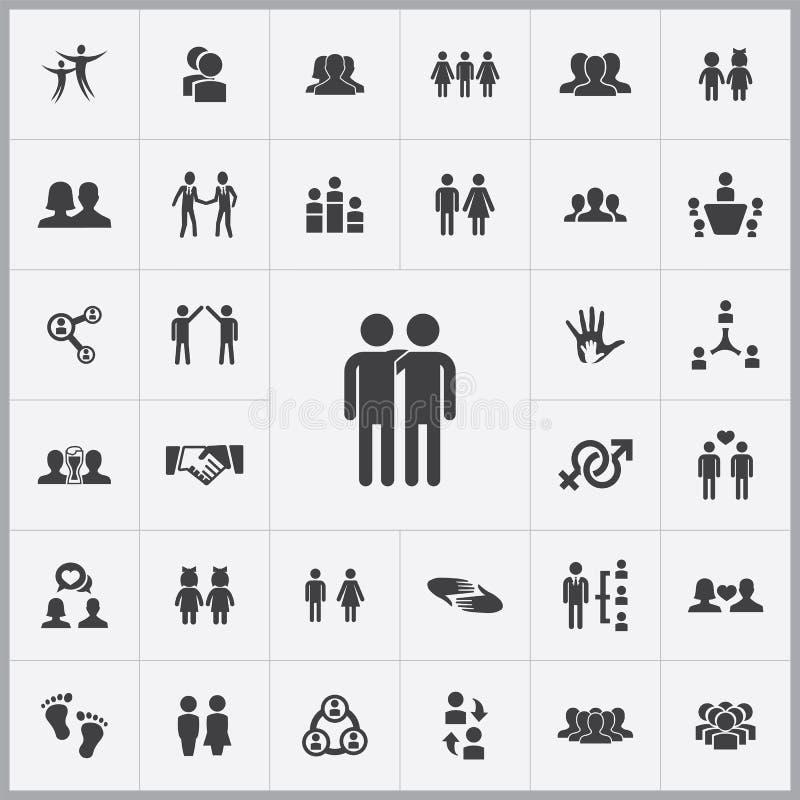 Friendship Icons Universal Set Stock Vector Illustration Of