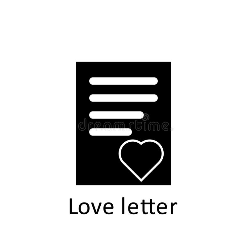 Friendship, love letter icon. Element of friendship icon. Premium quality graphic design icon. Signs and symbols collection icon. For websites, web design stock illustration