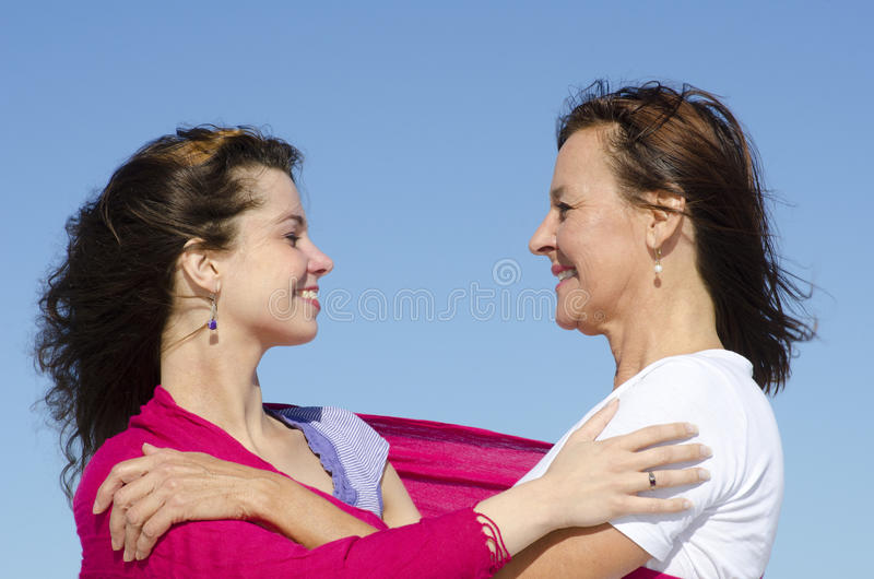 Friendship mother and daughter royalty free stock photography