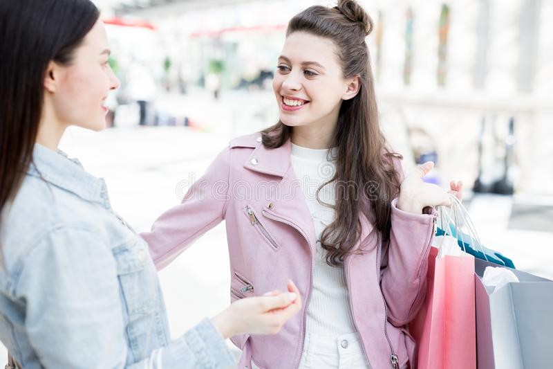 Friendship and shopping royalty free stock photos