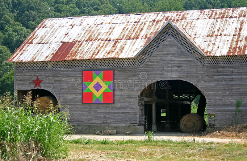 Friendship Star Quilt Barn royalty free stock photography