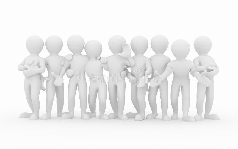 Download Friendship. Teamwork. Group Of People. Stock Illustration - Illustration of people, white: 20150994