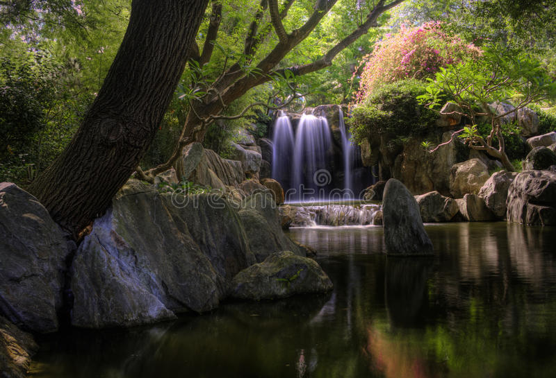 Friendship waterfall royalty free stock photography