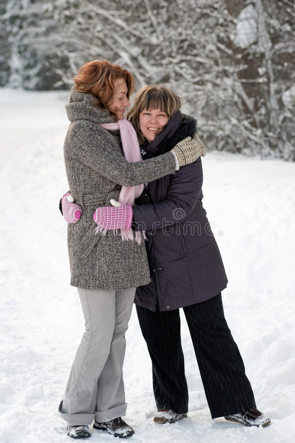 Download Friendship in winter stock photo. Image of adult, caucasian - 13125576