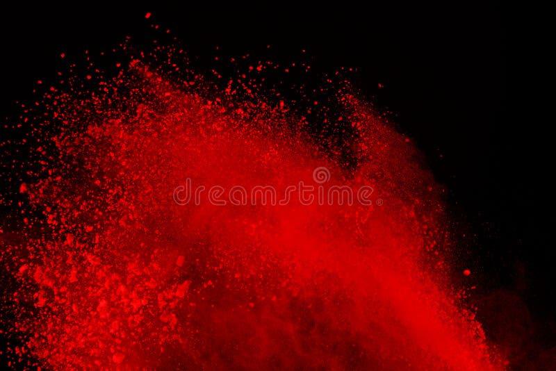 Frieren Sie Bewegung der farbigen Pulverexplosion ein, die auf schwarzem Hintergrund lokalisiert wird Zusammenfassung des Mehrfar stock abbildung