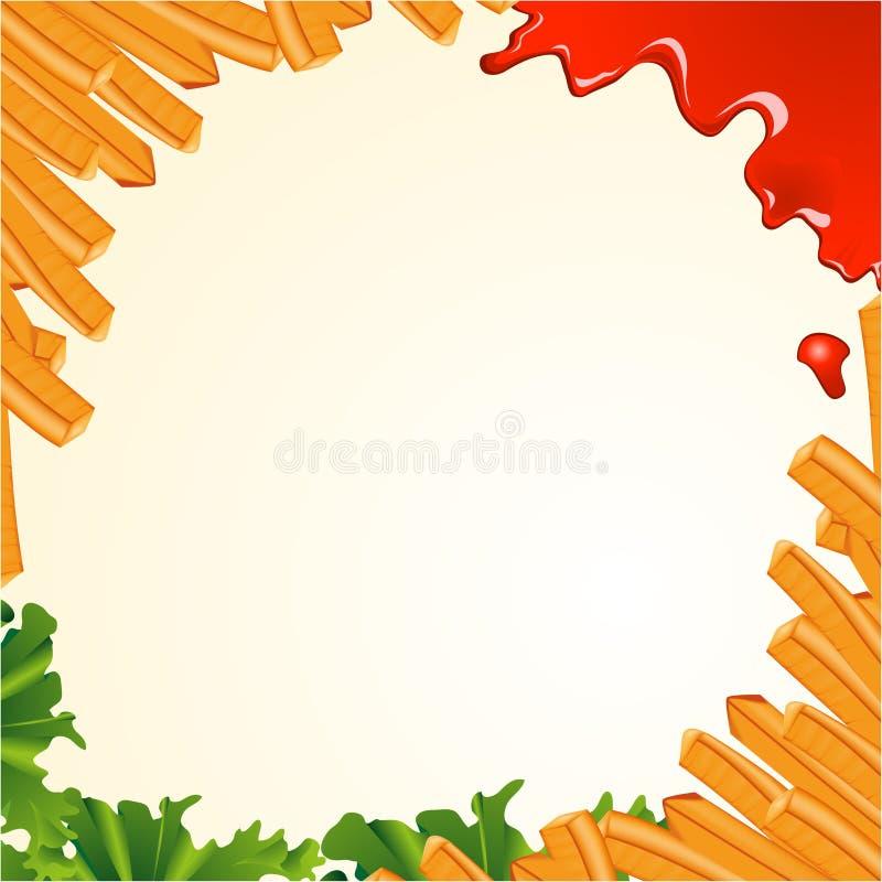 fries франчуза предпосылки иллюстрация вектора