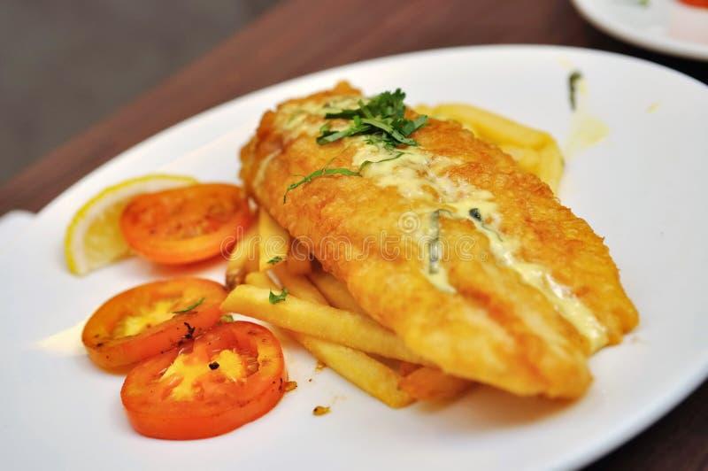 fries dory зажаренные рыбами стоковые фотографии rf