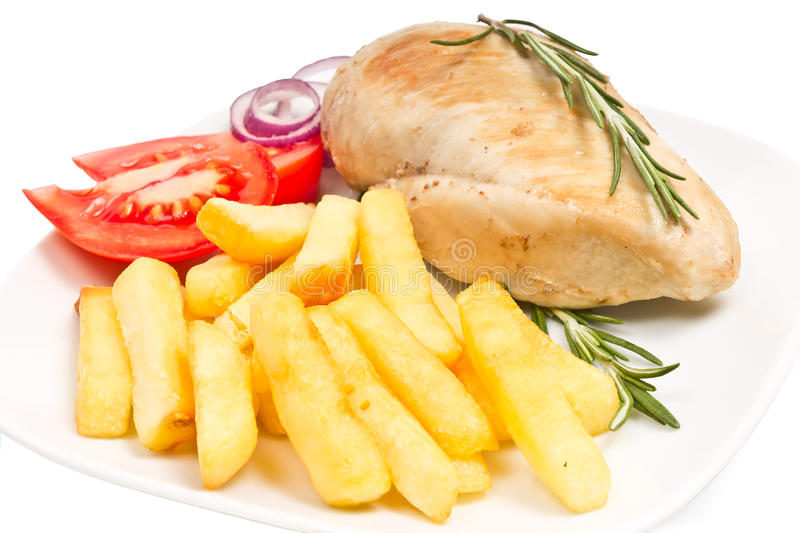 Download Fries, Tomato, Chicken Fillets Stock Image - Image: 25421335