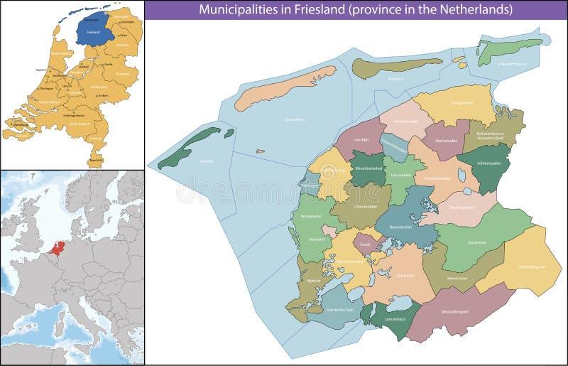 Friesland jest prowincją holandie ilustracji