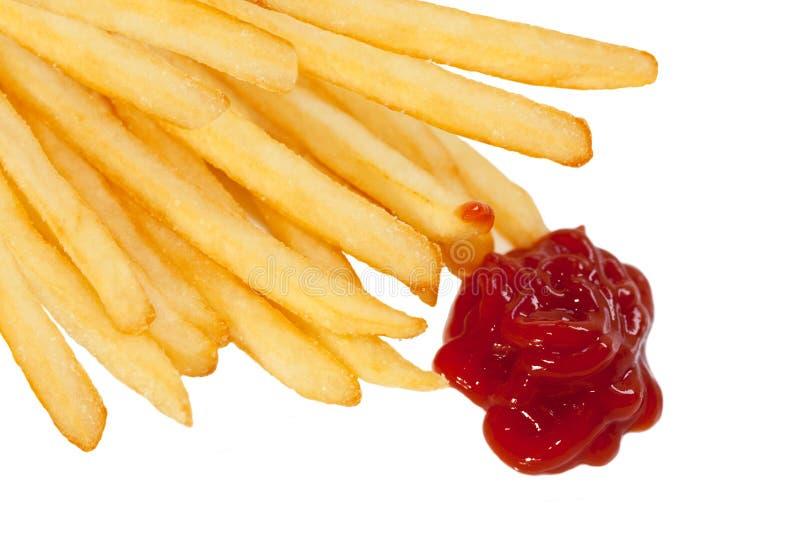 Frieten en Ketchup royalty-vrije stock fotografie