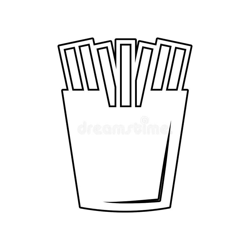 Frietenpictogram Element van het eten voor mobiel concept en webtoepassingenpictogram Overzicht, dun lijnpictogram voor websiteon stock illustratie