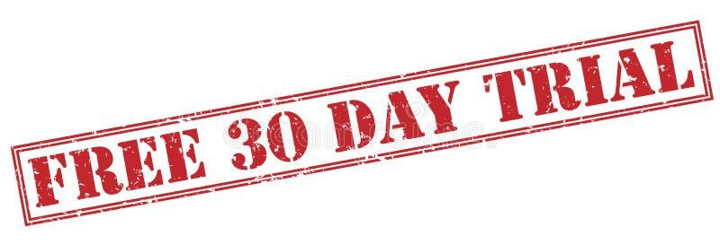 Frigör den röda stämpeln för det 30 dag försöket royaltyfri illustrationer