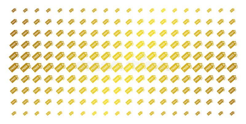 Frigör det guld- rastrerade rastret för etiketten vektor illustrationer