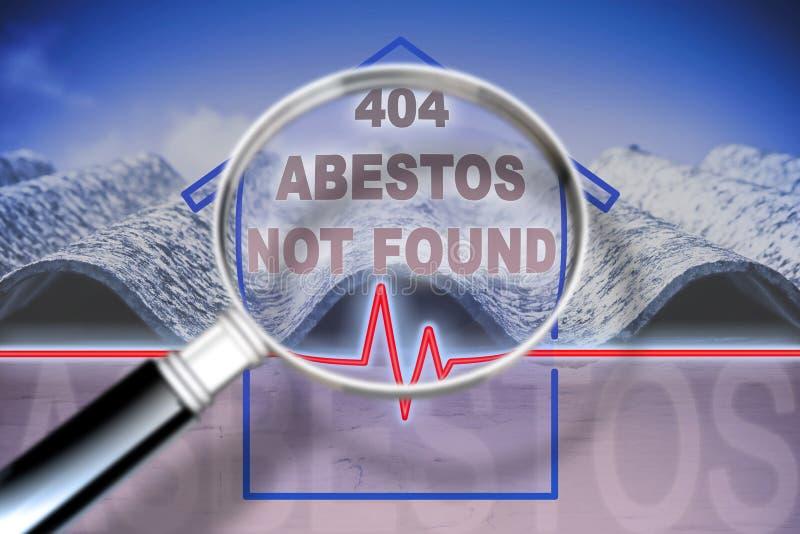 Frigör från asbest som inte har funnits i ditt hem - begreppsbild med kontroll-uppdiagrammet om asbestförorening och arkivbilder