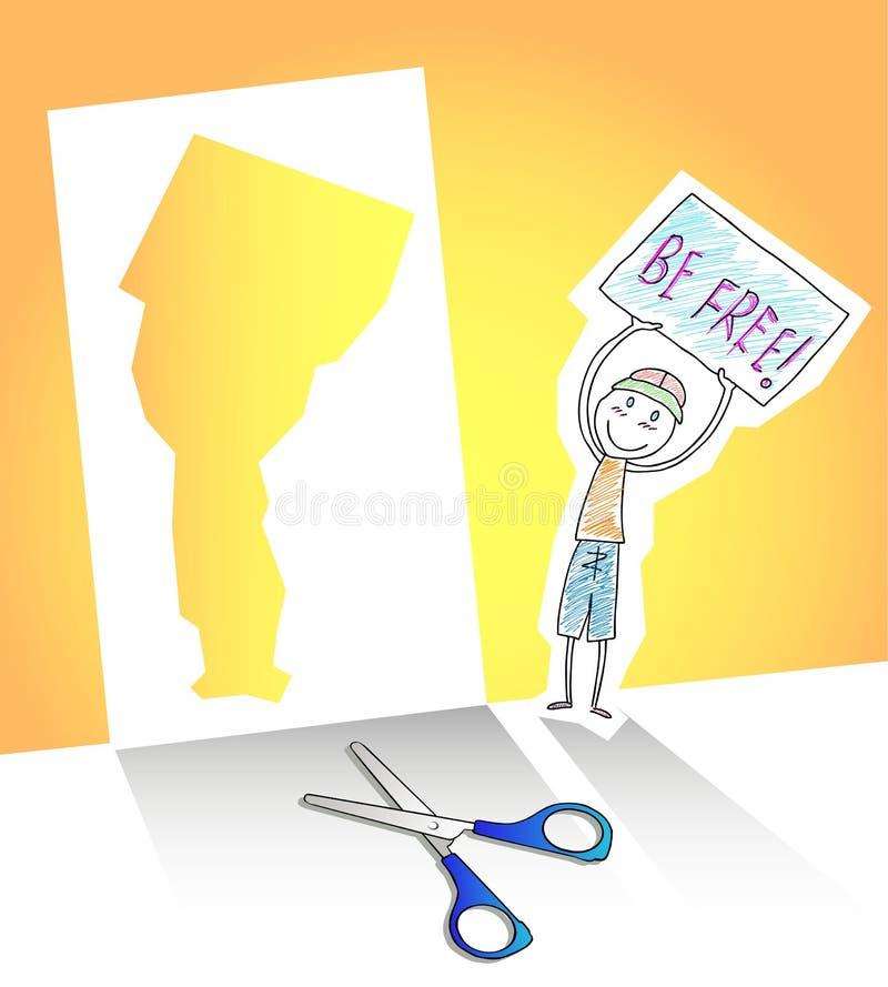 frigör sig yourself vektor illustrationer