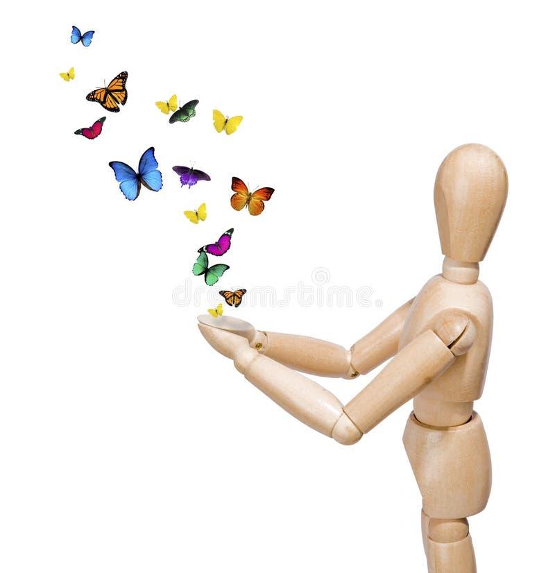 frigöra för fjärilar arkivfoton