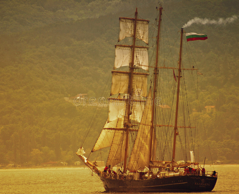Download Frigate stock photo. Image of ship, sail, object, cruise - 167990