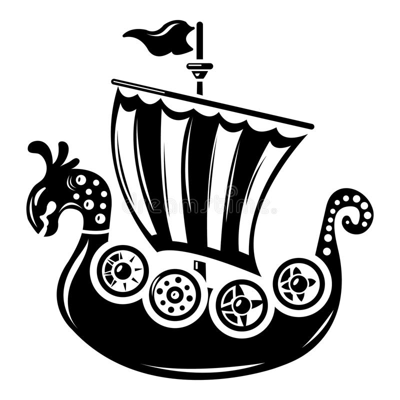 Frigate icon, simple style. Frigate icon. Simple illustration of frigate vector icon for web royalty free illustration