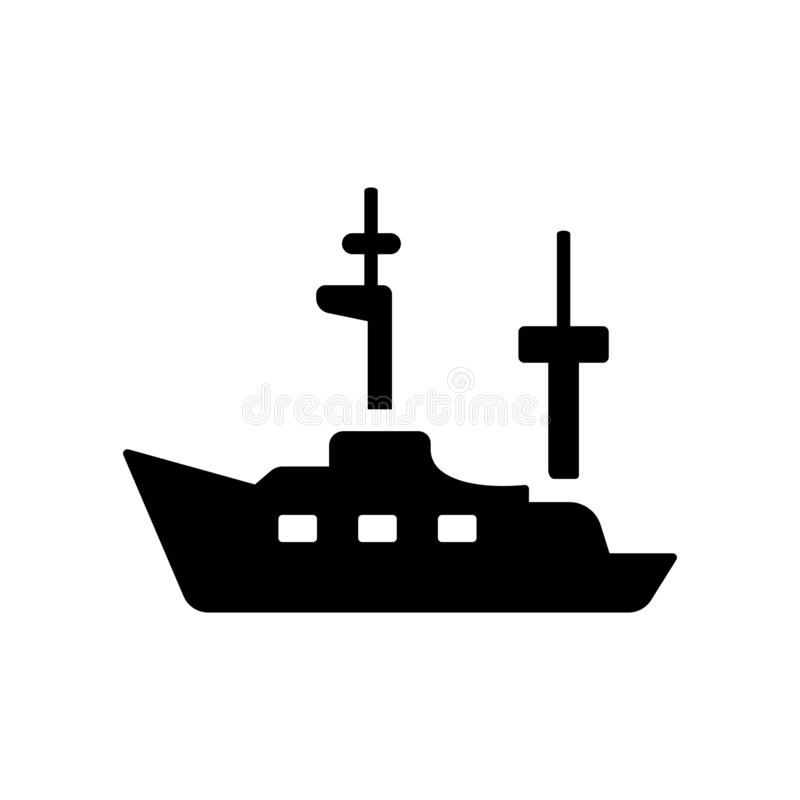 Frigate icon. Trendy Frigate logo concept on white background fr. Om Nautical collection. Suitable for use on web apps, mobile apps and print media royalty free illustration