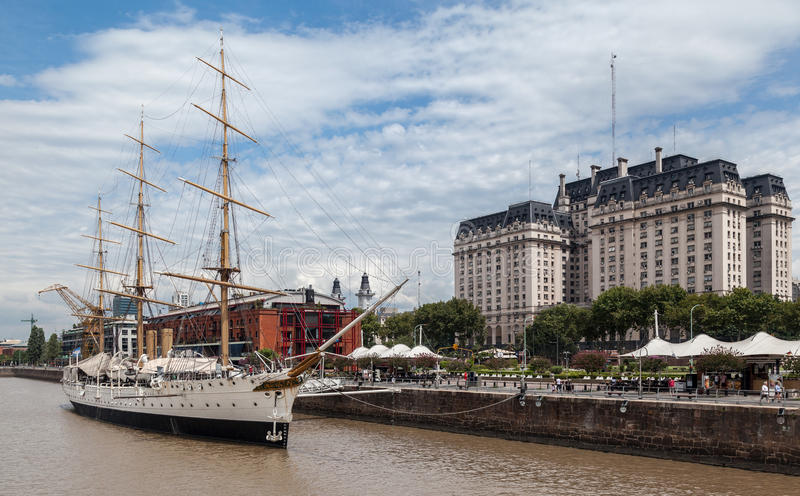 Frigate Sarmiento Buenos Aires stock image