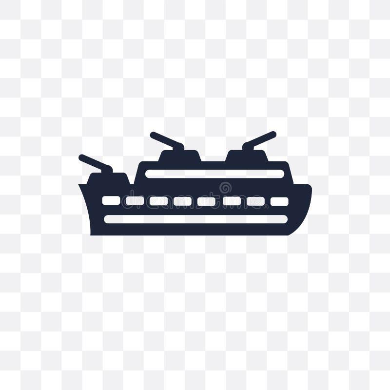 Frigate transparent icon. Frigate symbol design from Nautical co. Llection. Simple element vector illustration on transparent background stock illustration