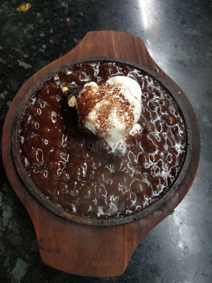 Friggere brownie fotografie stock libere da diritti