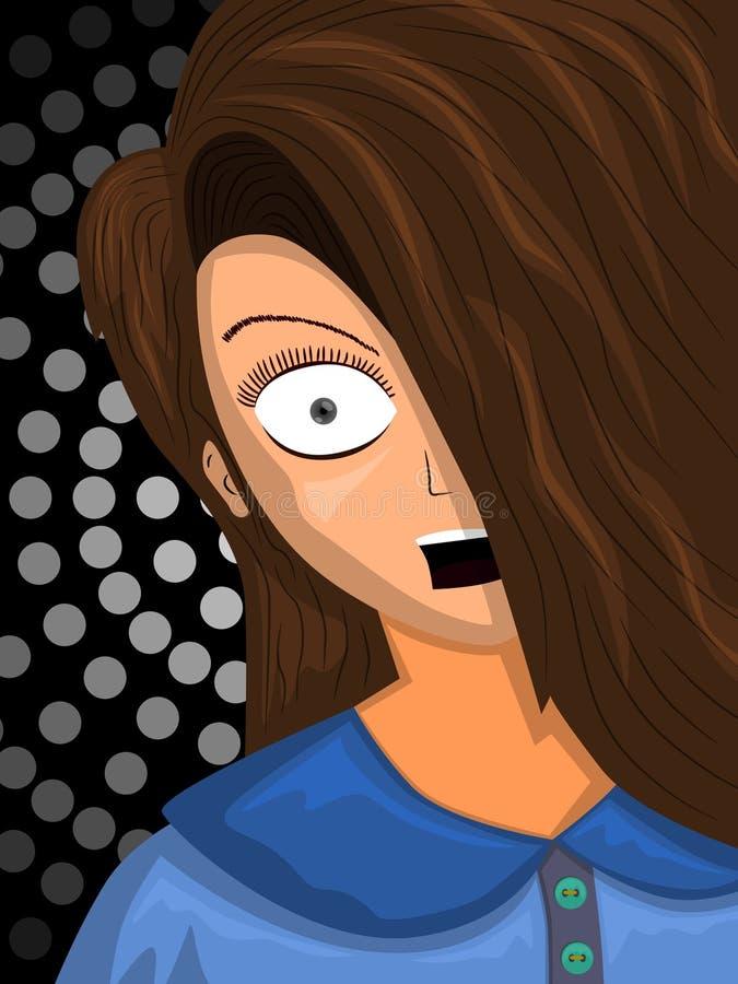 frightened ilustração do vetor