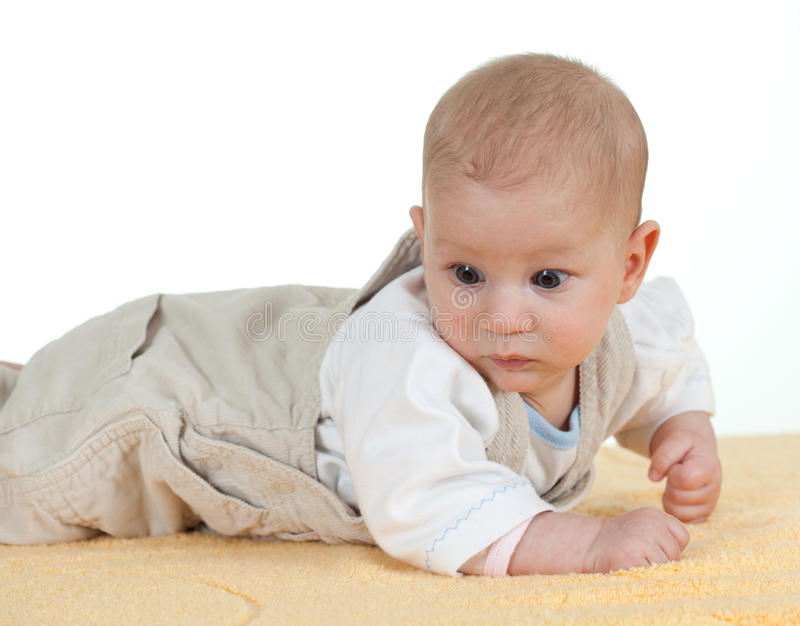 Download Frightened baby boy stock image. Image of male, isolated - 16424355