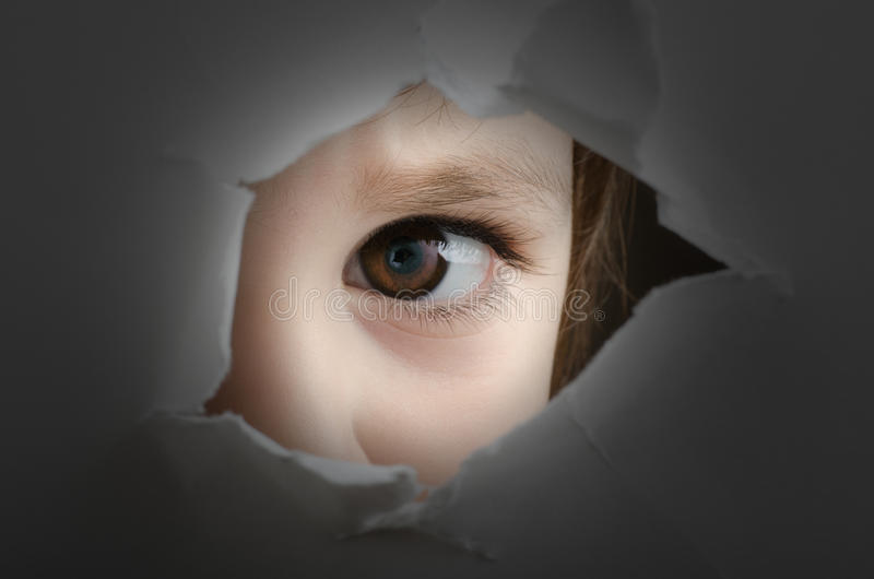 Frightened child stock photography