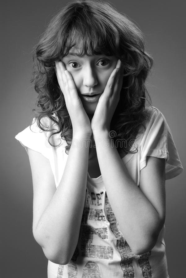 Download The frightened girl stock photo. Image of closeup, facetious - 18080704