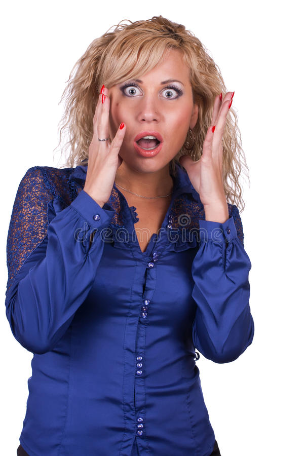 The Frightened Girl Stock Photography