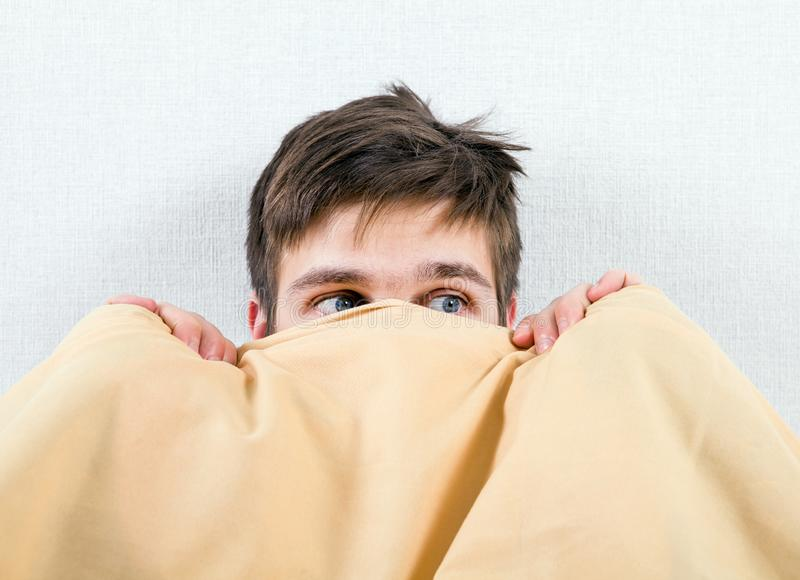 Frightened Young Man royalty free stock photo
