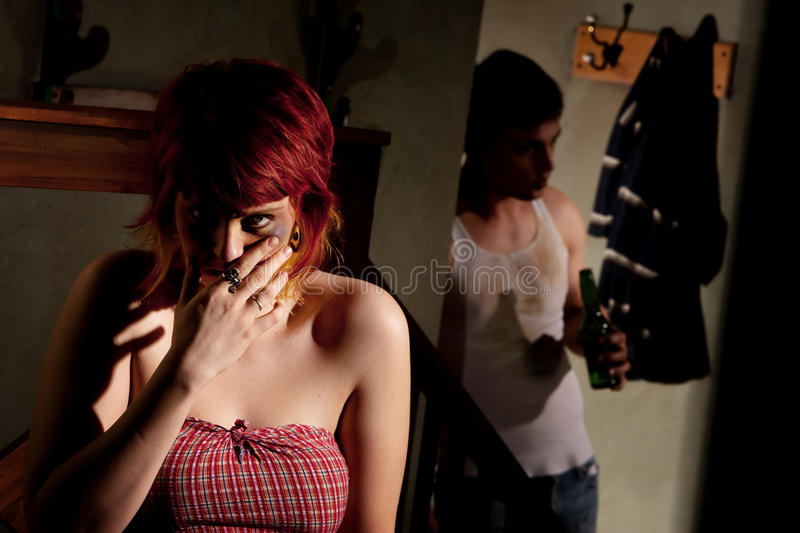 Frightened Young Woman Royalty Free Stock Image
