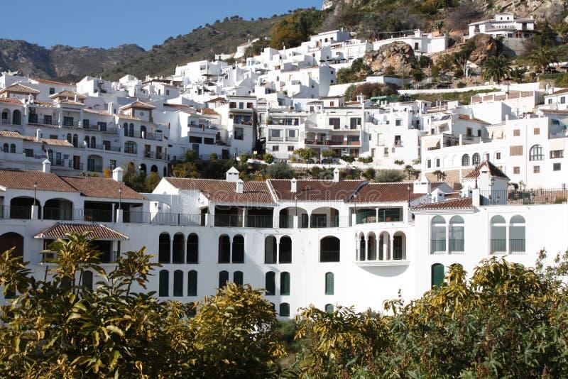 frigiliana西班牙城镇 免版税库存图片