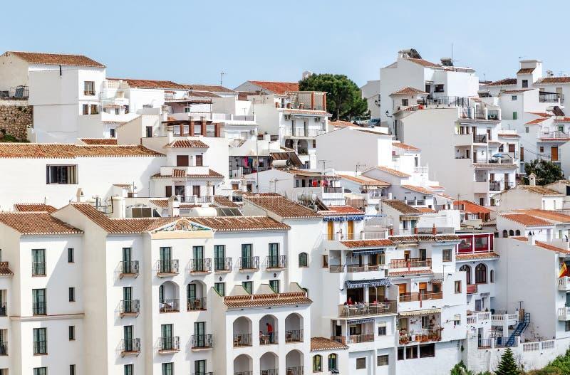 """Frigiliana είναι ένα από των διάσημων """"άσπρων χωριών Ανδαλουσίας στο Κόστα ντελ Σολ στη νότια Ισπανία στοκ φωτογραφίες με δικαίωμα ελεύθερης χρήσης"""