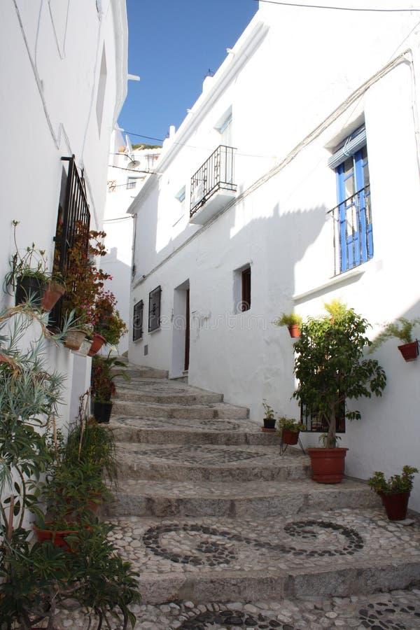 frigiliana Ισπανία χωριό βημάτων στοκ εικόνα με δικαίωμα ελεύθερης χρήσης