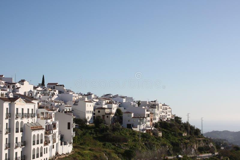 frigiliana Ισπανία χωριό όψης στοκ εικόνα